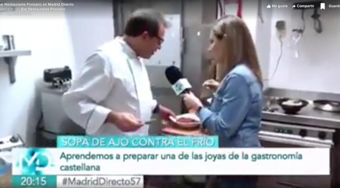 Las sopas de ajo de Bar Restaurante Ponzano, en TeleMadrid