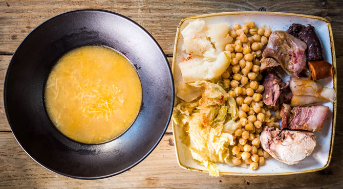 Cocido madrileño en Ponzano